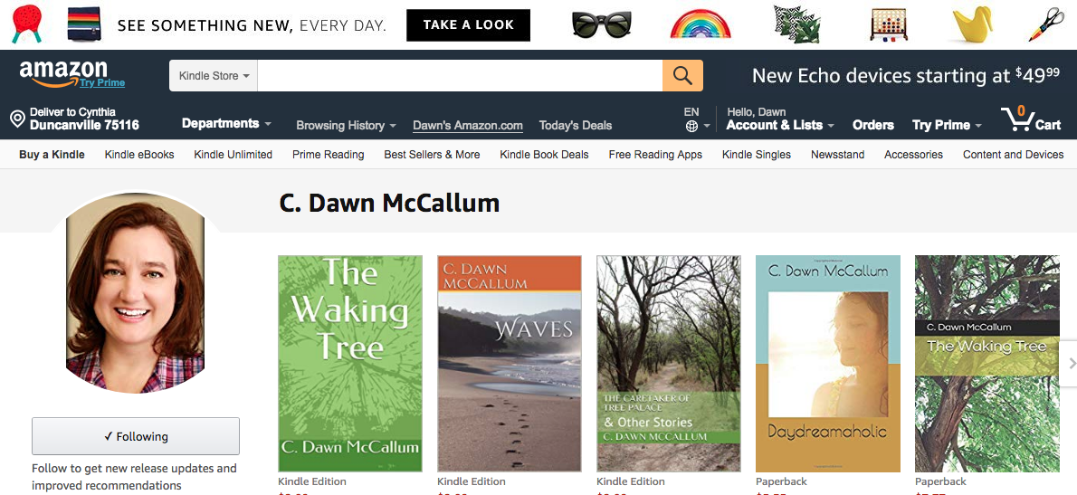 Author Page on Amazon for C  Dawn McCallum – C  Dawn McCallum